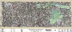 Marshall County Minnesota 2017 Wall Map