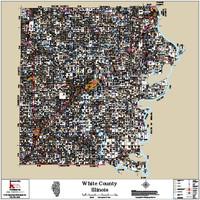 White County Illinois 2018 Wall Map