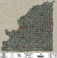 Osage County Missouri 2017 Aerial Wall Map
