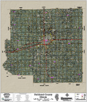 Richland County Illinois 2018 Aerial Wall Map
