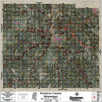 Pontotoc County Mississippi 2018 Aerial Wall Map