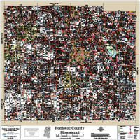Pontotoc County Mississippi 2018 Wall Map
