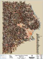 Cape Girardeau County Missouri 2020 Soils Wall Map
