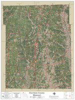 Harrison County Missouri 2021 Aerial Wall Map