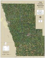 Polk County Minnesota 2021 Aerial Wall Map