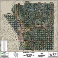 La Crosse County Wisconsin 2018 Aerial Wall Map