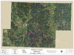 Hickory County Missouri 2021 Aerial Wall Map