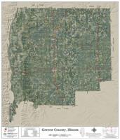 Greene County Illinois 2018 Aerial Wall Map