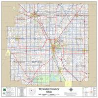 Wyandot County Ohio 2018 Wall Map