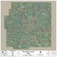 Wyandot County Ohio 2018 Aerial Wall Map