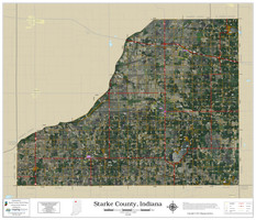 Starke County Indiana 2021 Aerial Wall Map