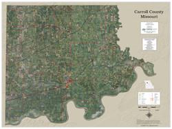 Carroll County Missouri 2021 Aerial Wall Map