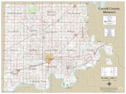 Carroll County Missouri 2021 Wall Map