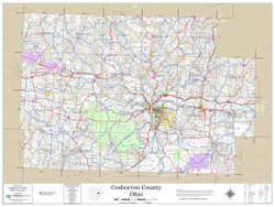 Coshocton County Ohio 2018 Wall Map