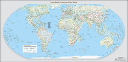 Equal-Earth World Map