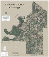 Coahoma County Mississippi 2018 Aerial Wall Map