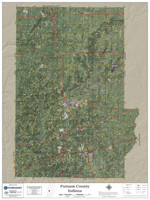 Putnam County Indiana 2018 Aerial Wall Map