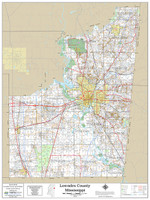 Lowndes County Mississippi 2018 Wall Map
