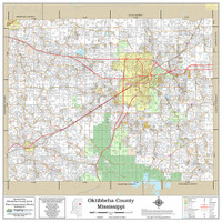 Oktibbeha County Mississippi 2018 Wall Map