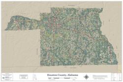 Houston County Alabama 2019 Aerial Wall Map