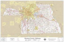Houston County Alabama 2019 Wall Map