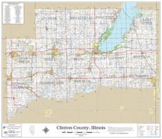 Clinton County Illinois 2018 Wall Map