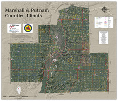 Marshall & Putnam Counties Illinois 2019 Aerial Wall Map
