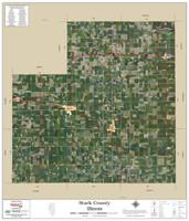 Stark County Illinois 2019 Aerial Wall Map