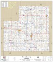 Stark County Illinois 2019 Wall Map