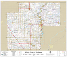 White County Indiana 2021 Wall Map