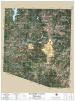 Randolph County Missouri 2019 Aerial Wall Map