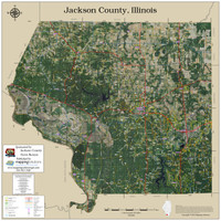 Jackson County Illinois 2018 Aerial Wall Map