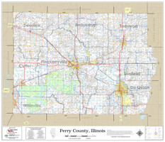 Perry County Illinois 2019 Wall Map