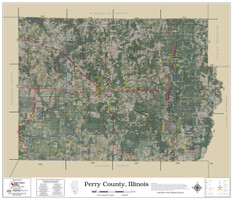 Perry County Illinois 2019 Aerial Wall Map