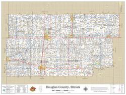 Douglas County Illinois 2019 Wall Map