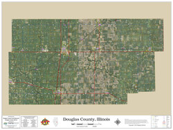 Douglas County Illinois 2019 Aerial Wall Map