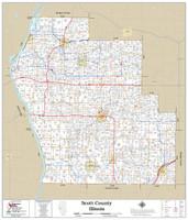 Scott County Illinois 2019 Wall Map
