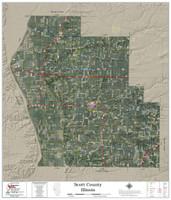 Scott County Illinois 2019 Aerial Wall Map