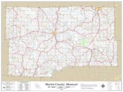 Maries County Missouri 2019 Wall Map