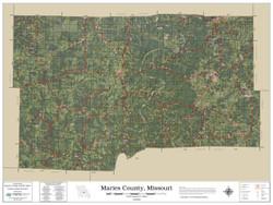 Maries County Missouri 2019 Aerial Wall Map
