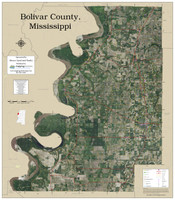 Bolivar County Mississippi 2019 Aerial Wall Map