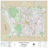 Union County Illinois 2019 Wall Map
