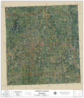 Labette County Kansas 2019 Aerial Wall Map