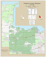 Chippewa County Michigan 2019 Wall Map