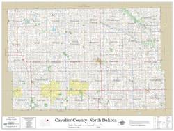 Cavalier County North Dakota 2021 Wall Map