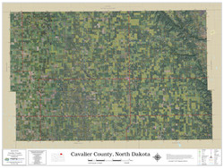 Cavalier County North Dakota 2021 Aerial Wall Map