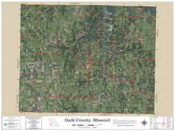 Dade County Missouri 2019 Aerial Wall Map