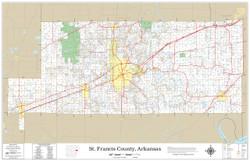 St. Francis County Arkansas 2019 Wall Map