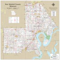 New Madrid County Missouri 2019 Wall Map