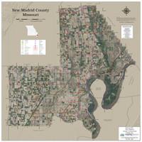 New Madrid County Missouri 2019 Aerial Wall Map